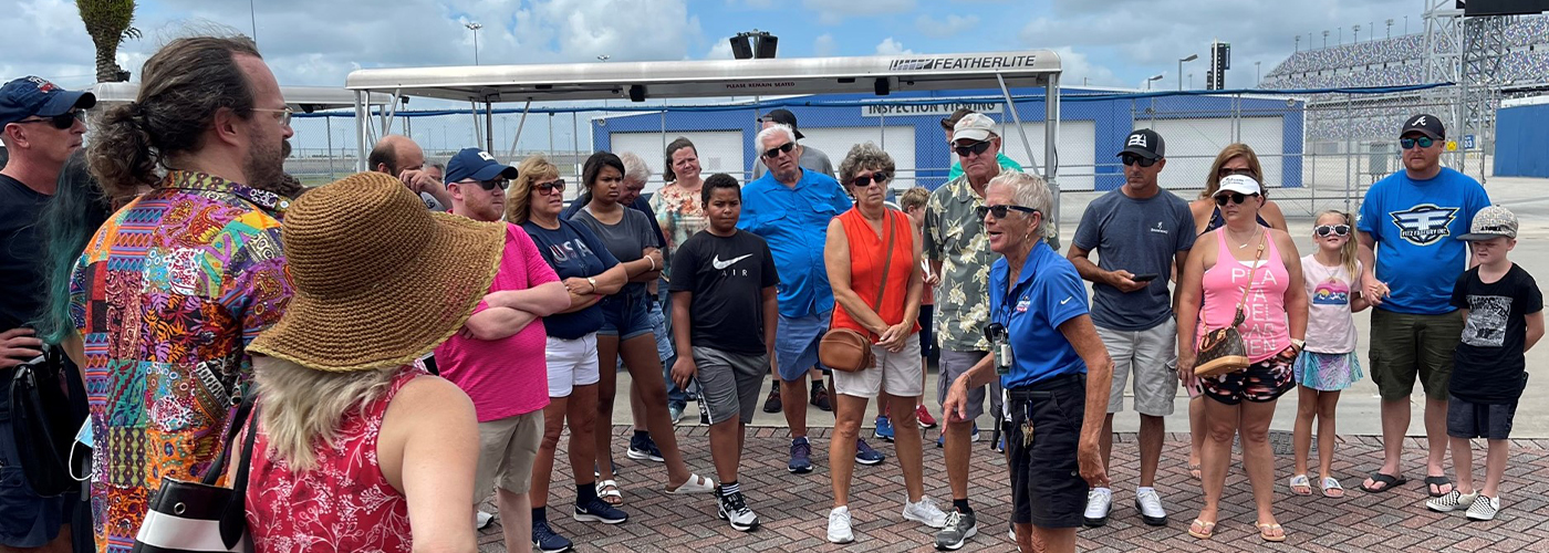 Daytona Worldwide Speedway's Mamie Pollock: A part of the Monitor's Tram Tour Specialists Who Love Assembly Followers From All Across the World – Daytona Worldwide Speedway